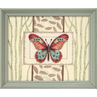 """Набор для вышивки Dimensions 65026 """"Бабочки и листья"""""""