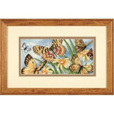 """Набор для вышивки Dimensions 65055 """"Виньетка с бабочками"""""""