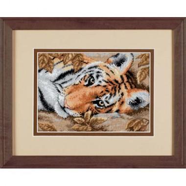 """Набор для вышивки крестом Dimensions 65056 """"Притягательный тигр"""""""