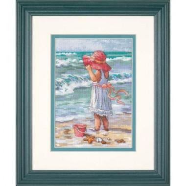 """Набор для вышивки крестом Dimensions 65078 """"Девочка на берегу"""""""