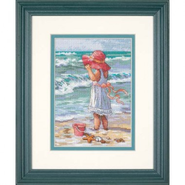 "Набор для вышивки Dimensions 65078 ""Девочка на берегу"""