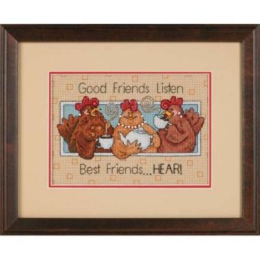 """Набор для вышивки Dimensions 65079 """"Хорошие друзья слушают …"""""""
