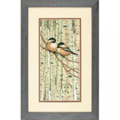 """Набор для вышивки Dimensions 70-35277 """"Влюбленные пташки"""""""