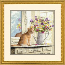 """Набор для вышивания Dimensions 70-35359 """"Котенок в окне"""""""