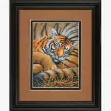 "Набор для вышивки Dimensions 70-65105 ""Спящий тигр"""