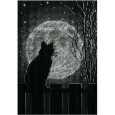 Набор для вышивки крестом Dimensions 70-65212 Лунная черная кошка