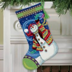 """Набор для вышивания Dimensions 09143 """"Счастливый снеговик"""""""