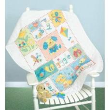 """Набор для вышивки Dimensions 73473 Одеяльце """"Пэчворк для малыша"""""""