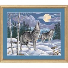 """Набор для рисования Dimensions 91004 """"Вой волка в зимнем лесу"""""""
