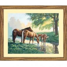 """Набор для рисования Dimensions 91159 """"Лошади у ручья"""""""