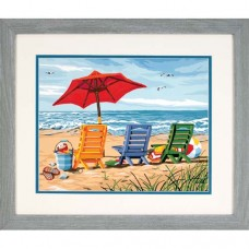 "Набор для рисования Dimensions 91316 ""Трио шезлонгов на берегу"""