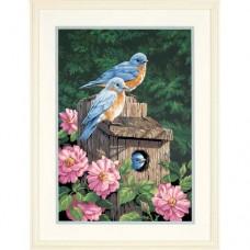 """Набор для рисования Dimensions 91401 """"Синие птички в саду"""""""