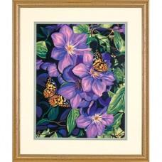 """Набор для рисования Dimensions 91403 """"Клематисы и бабочки"""""""
