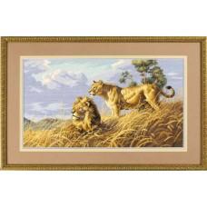 """Набор для вышивки Dimensions 03866 """"Африканские львы"""""""