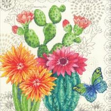Набор для вышивки Dimensions 70-35388 Цветущий кактус