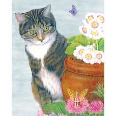 """Набор для вышивания DMC BK734 """"Кот и бабочка"""""""