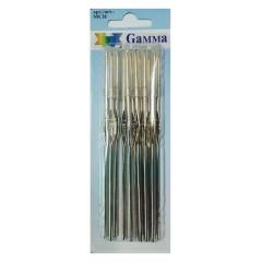Крючок для вязания GAMMA №4 металл (1.6 мм) 12 см, 1 шт