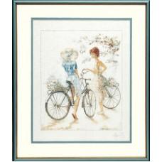 """Набор для вышивания Lanarte 33788 """"Велосипедистки"""""""