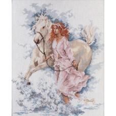 """Набор для вышивания Lanarte 33827 """"Девушка с лошадью"""""""