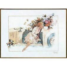 """Набор для вышивания Lanarte 33828 """"Девушка в авто"""""""