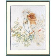 """Набор для вышивания Lanarte 33829 """"Лошадь и цветы"""""""