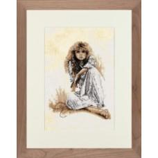 """Набор для вышивания Lanarte 34846 """"Сара Мун в белом"""""""