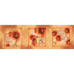 """Набор для вышивания Lanarte 34897 """"Триптих из подсолнухов"""""""