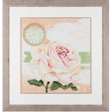 """Набор для вышивания Lanarte 34924 """"Белая роза"""""""
