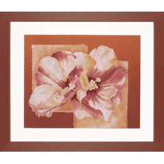 """Набор для вышивания Lanarte 35060 """"Абстракция с розовой китайской розой"""""""
