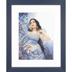 """Набор для вышивания Lanarte 35068 """"Красота в Синем"""""""