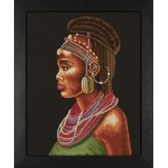 """Набор для вышивания Lanarte 35075А """"Африканка"""""""