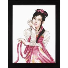 """Набор для вышивания Lanarte 35085 """"Молодая японка"""""""