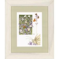 """Набор для вышивания Lanarte PN-0147505 """"Лавандовое поле с бабочкам"""""""