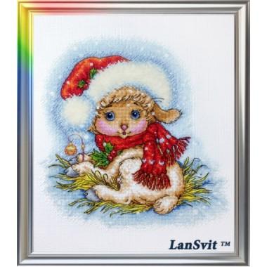 """Набор для вышивания ЛанСвіт Д-052 """"Рождественская овечка"""""""