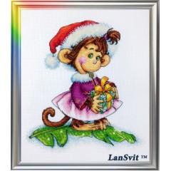 """Набор для вышивания ЛанСвіт Д-053 """"Кокетливая обезьянка"""""""
