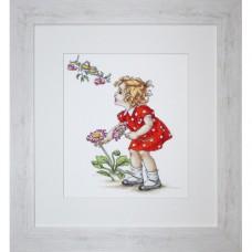 Набор для вышивания Luca-S B1050 Девочка в красном платье