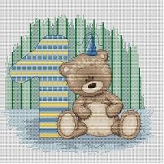 Набор для вышивания Luca-S B1087 Медвежонок Бруно