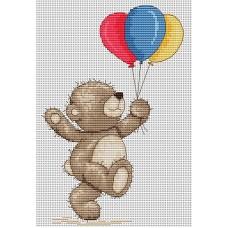 Набор для вышивания Luca-S B1097 Медвежонок Бруно