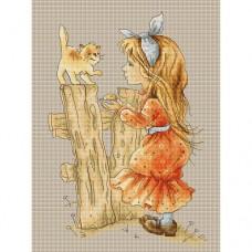 """Набор для вышивания Luca-S B1106 """"С котенком"""""""