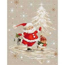 Набор для вышивания Luca-S B1118 Дед Мороз