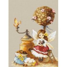 Набор для вышивания Luca-S B1132 Кофейная Фея