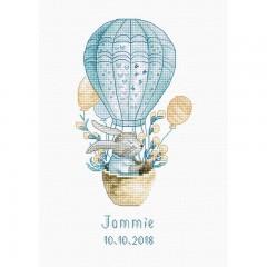 Набор для вышивки Luca-S B1150 Кролик на воздушном шаре
