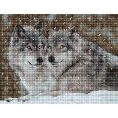 "Набор для вышивки Luca-S B2291 ""Два волка"""