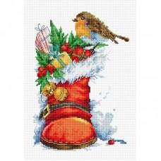 Набор для вышивания Luca-S B2310 Рождественский сапожок