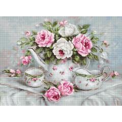 Набор для вышивания Luca-S B2317 Чайный сервиз и розы