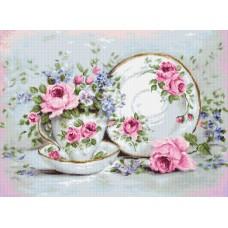 Набор для вышивания Luca-S B2318 Трио и цветы