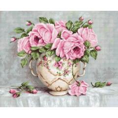 Набор для вышивания Luca-S B2319 Розовые розы