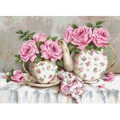 Набор для вышивания Luca-S B2320 Утренний чай и розы