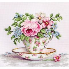 Набор для вышивания Luca-S B2321 Цветы в чайной чашке