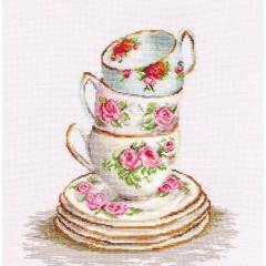 Набор для вышивания Luca-S B2323 Три чайные чашки